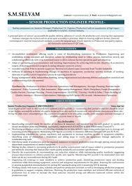 Production Engineer Sample Resumes Download Resume Format