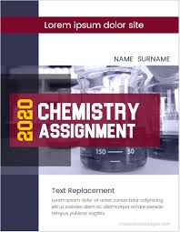Chemistry Cover Page Designs Chemistry Assignment Cover Pages Ms Word Cover Page Templates