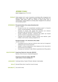 Personal Assistant Resume Example Hvac Cover Letter Sample