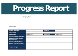 Business Review Report Template Progress Report Template 12 Free