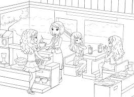 Simple Lego Friends Printable Coloring Pages Z6375 Perfect Free