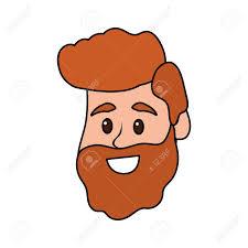 幸せで素敵な髪型頭男ベクトル イラストのイラスト素材ベクタ