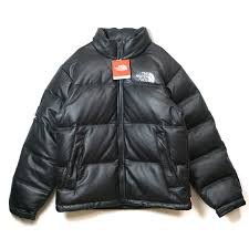 palm nut supreme x the north face シュプリーム x north face leather nuptse jacket レザーヌプシジャケット black black black small size 2017aw fw