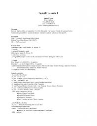 Resume Template Sample Resume For Cosmetology Student Resume