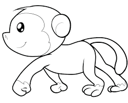 Baby Monkey Coloring Pages Coloring Pages Of Cute Baby Monkeys