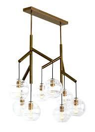 tech lighting chandelier double in aged brass rhapsody