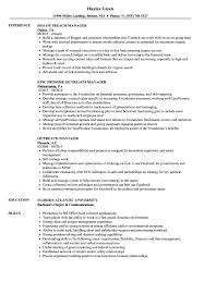 Outreach Manager Resume Samples Velvet Jobs
