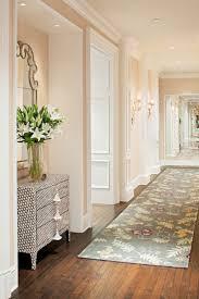 How-to-decorate-narrow-entryway-hallway-entrance -home-cream-peach-moulding-ideas-long-carpet-rug-inspiration-pot-lights-barn-floor  Pinterest