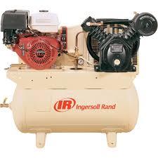 small gas powered air compressor. free shipping \u2014 ingersoll rand 24 cfm @ 175 psi, 13 hp horizontal air compressor small gas powered d