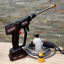máy xịt rửa xe bằng pin samaki 24v - thế hệ 2 0 2 1 co-vit - Máy xịt rửa  Nhà sản xuất Samaki