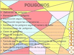 temario poligonos definicin de polgono