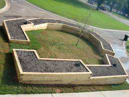 raised garden beds railroad ties the raised bed aka the great wall of china at the