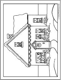 Small Picture Christmas House Coloring Sheet