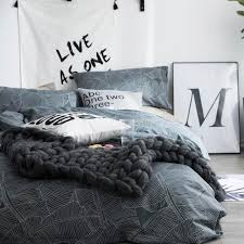 100 cotton dark grey duvet cover set twin queen size bedding set for s grey solid color flat sheet pillowcase bed linens bedding accessories girls