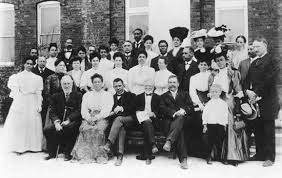 booker t washington front row centre left with andrew carnegie and
