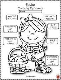 Easter Music Coloring Sheets 26 Color By Notes And Music Symbols