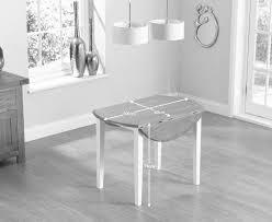 mark harris genovia solid oak round drop leaf extending dining table 60cm 100cm