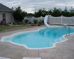 view larger image fiberglass pool with slide nationalpoolsandspas