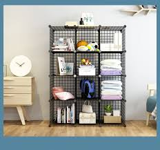 wire storage cubes wire grids cube closet organizer shelf cabinet bookcase black