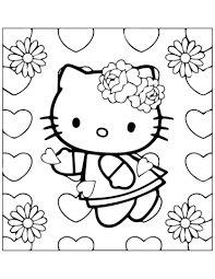 Kitty Verliefd Kleurplaat Gratis Kleurplaten Printen