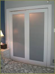 image of simple sliding glass closet doors