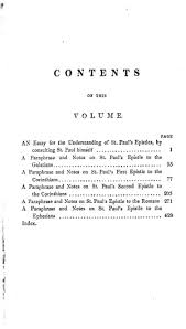 the works of john locke vol essays and notes on st paul s  original table of contents or first page