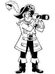 Piet Piraat Kleurplaat Verrekijker