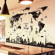 huge world map sticker to decorate your