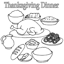 Small Picture Thanksgiving Dinner Coloring Pages GetColoringPagescom