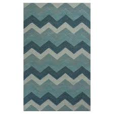 chevron style blue 5 ft x 8 ft area rug