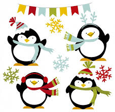 cute penguin christmas clipart. Delighful Clipart Happy Winter Penguins Free Vector To Cute Penguin Christmas Clipart I