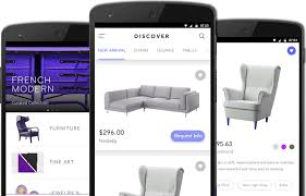 iPhone and Android application to furniture stores to show case