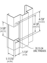 electric strike door hardware genius hes 1006 prep for hollow metal