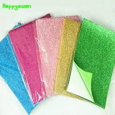 Happyxuan 10pcs/pack 20*30cm 1.8mm Self adhesive Glitter <b>EVA</b> ...