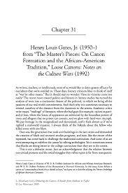 henry louis gates jr from ldquo the master s pieces on canon inside
