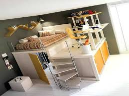 bed with office underneath. Bunk Bed Office With Desk Underneath Plans Efficient Loft .