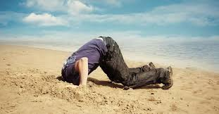 Image result for head in sand
