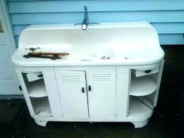 vintage kitchen sink cabinet.  Vintage Vintage Metal Sink Cabinet Kitchen Sinks Antique Drainboard To N