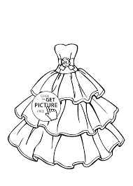 Free Printable Coloring Pages Girls In Dresses