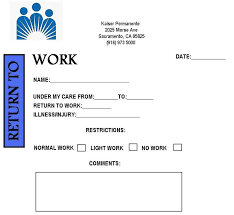 fake doctors note kaiser free printable doctors note for work bravebtr