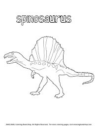 spinosaurus coloring page coloring pages with dinosaurs cretaceous period t rex and spinosaurus coloring pages