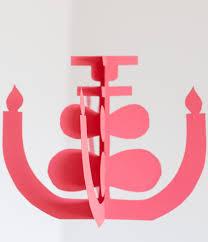 bright paper chandeliers