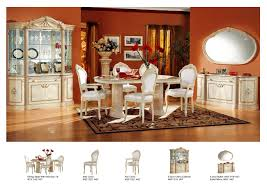 Dining Room Set With China Cabinet Rossella Comp 1 Dining Room Set Table 2 Arm 4 Side Chairs 4