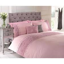 belle maison limoges rose ruffle duvet cover set pink