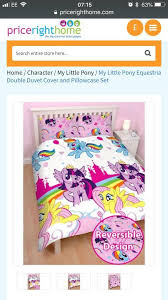 my little pony double quilt cover 2 pillowcases