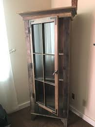 rustic curio cabinet. Delighful Rustic Rustic Curio Cabinet With Reclaimed Antique Window Door In N