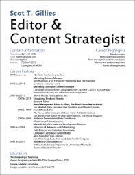 Content Strategist Resume