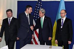 Кличко Виталий Владимирович Википедия С государственным секретарем США Джоном Керри 1 февраля 2014 года