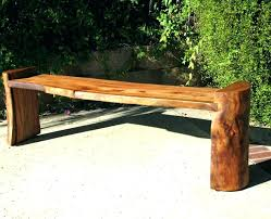 wood log bench various