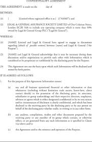 confidentiality agreement template sample medical confidentiality agreement